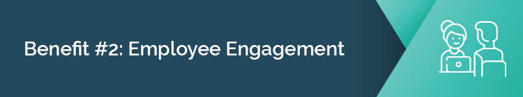 Employee engagement is one of the benefits of workplace giving.