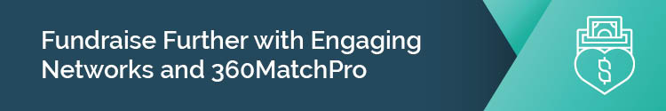 Fundraise further Engaging Networks and 360MatchPro section header