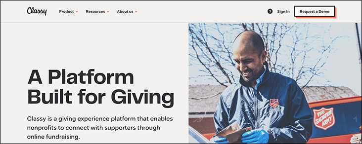 Classy is one of our favorite online donation tools.